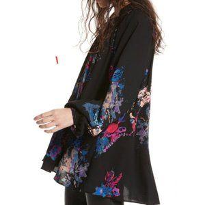Free People blouse Meadow Lark Floral Tunic sz S